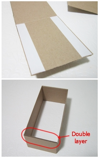 DIY Drawer organizer, recycled cardboard, recycled cereal box,