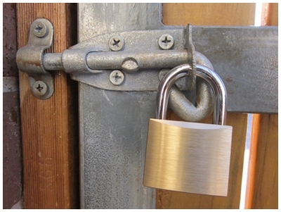 How to secure your home, home security, padlock