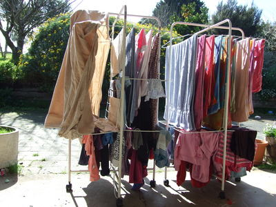 Washing, drying, clean clothes