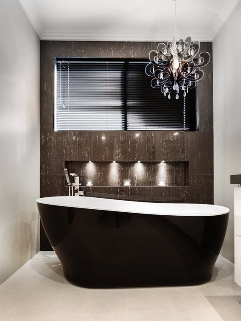 bathroom1  - Style Trends: The New Black in the Bathroom