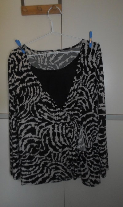 Blouse held on hanger with pegs