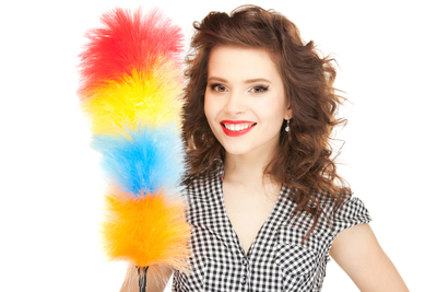 cleaning clean home house spotless sparkling woman feather duster cleaner tools order