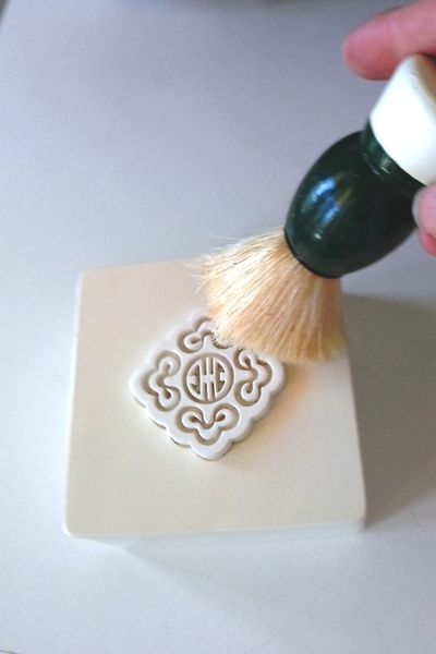 Cleaning with Shaving Brush