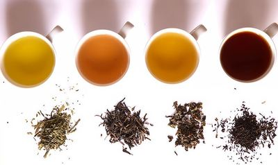 Oolong tea leaves Chinese writing
