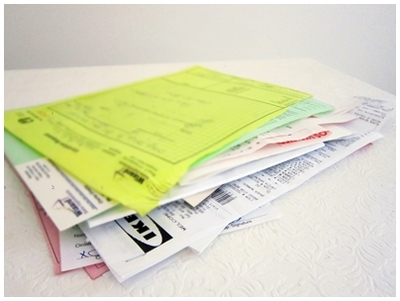 document filing, organize bills and receipts, document organization,