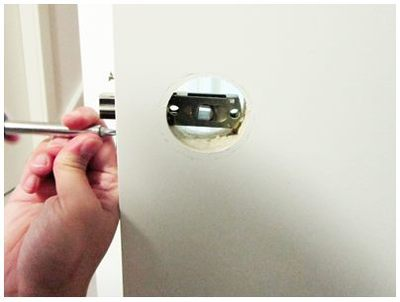 install door lock, tubular handle lock, DIY