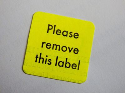 label sticky remove price information residue furniture