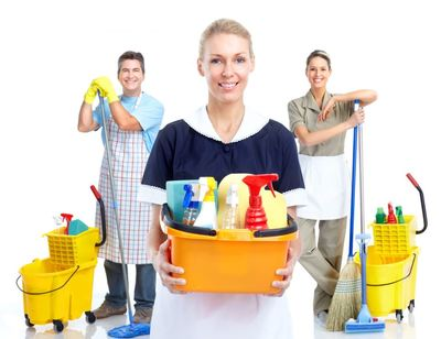 cleaning new home woman cleaner rubber gloves kitchen