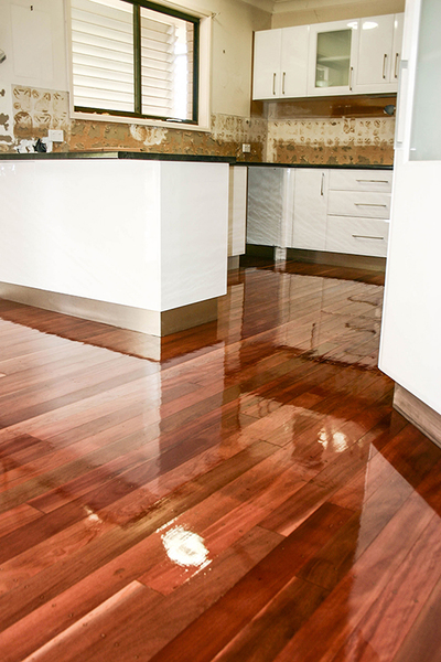 Restored wooden floor