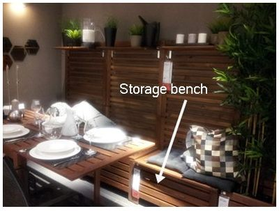 storage for small space, storage bench