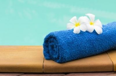 swimming pool spa home improvement luxury towel flowers relax chill massage